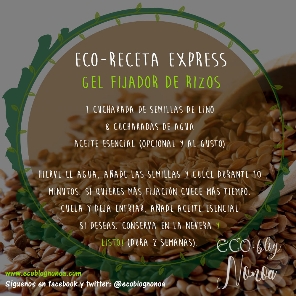 Gel Fijador De Rizos Con Semillas De Lino Receta Ecoblog Nonoa