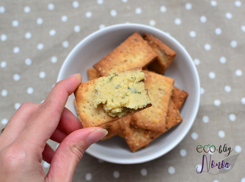 Crakers Veganas - Galletas saladas - Ecoblog Nonoa