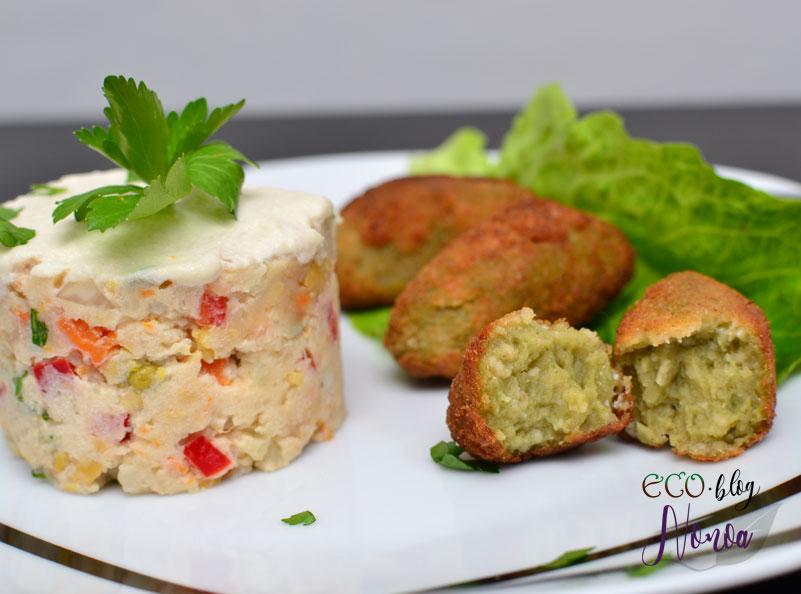 Croquetas veganas de espinacas y champiñones