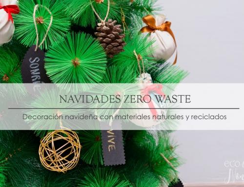 Adornos navideños con materiales reciclados y elementos naturales