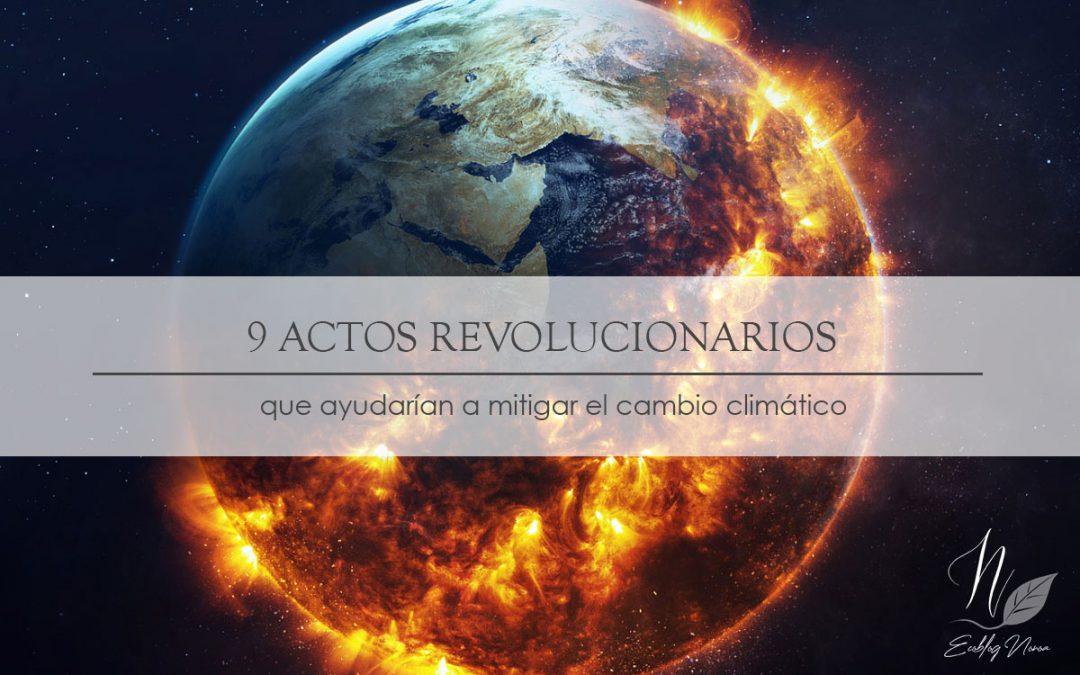 9 actos revolucionarios que ayudarían a mitigar el cambio climático